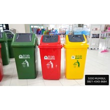 Plastic Dust Bin BIO EARTH Green Leaf