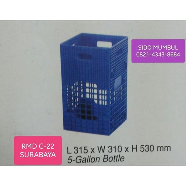 Krat Keranjang Botol Galon Plastik 19L