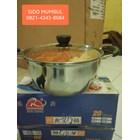 Panci Susu Milk Pan Sauce Pot Stainless Steel Tutup Kaca 1