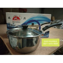 Stainless Steel Milk Pan Sauce Pan with Glass Cove