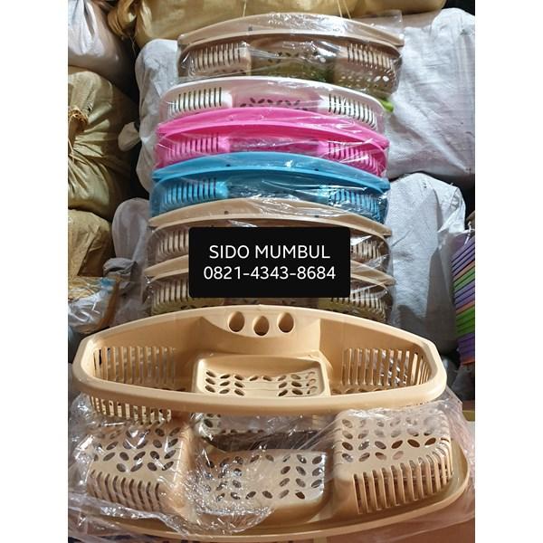 Rak Shampo Sabun Sikat Pasta Gigi Gantung Plastik