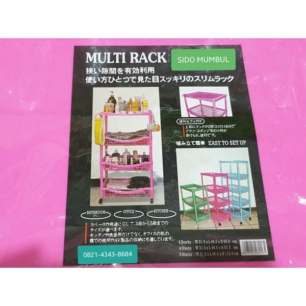 Multi Rack Rak Salon Roda Multi Fungsi
