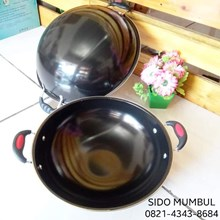 Enamel Black Ceramic Deep Fry Wok