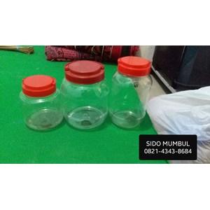 Dari Toples Plastik PET Segi Bulat Ikan Cupang Tutup Ulir Gagang 1