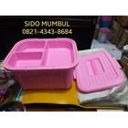 Toples Kotak Berkat Piknik Kurban Plastik Sekat Samir Botega 3