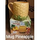 Mug Cangkir Nanas Pineapple Keramik Tanpa Tutup 1