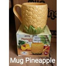 Mug Cangkir Nanas Pineapple Keramik Tanpa Tutup