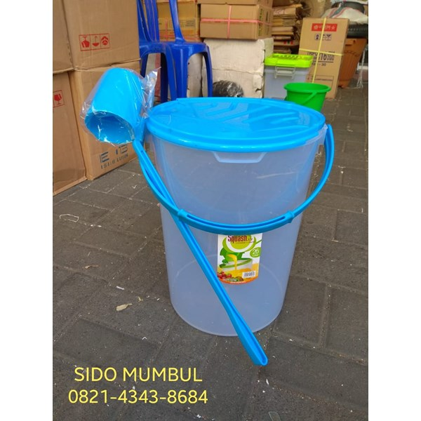 Squash Jar Toples Es Buah Plastik 26 Liter Container Dipper