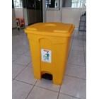 Tong Tempat Sampah Plastik Pedal Injak Kamar Rumah Sakit Kelas Sekolah Green Leaf Maspion Lucky Star Lion Star 7