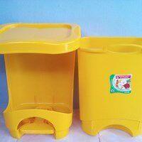 Tong Tempat Sampah Plastik Pedal Injak Kamar Rumah Sakit Kelas Sekolah Green Leaf Maspion Lucky Star Lion Star Murah 5