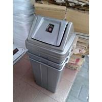 Tong Tempat Sampah Plastik Pedal Injak Kamar Rumah Sakit & Roda Taman Murah 5