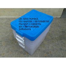 Transparant Storage Box With Casters