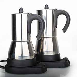 Dari Mesin Pembuat Kopi Moka Pot Elektrik 4 Cups Stainless 1
