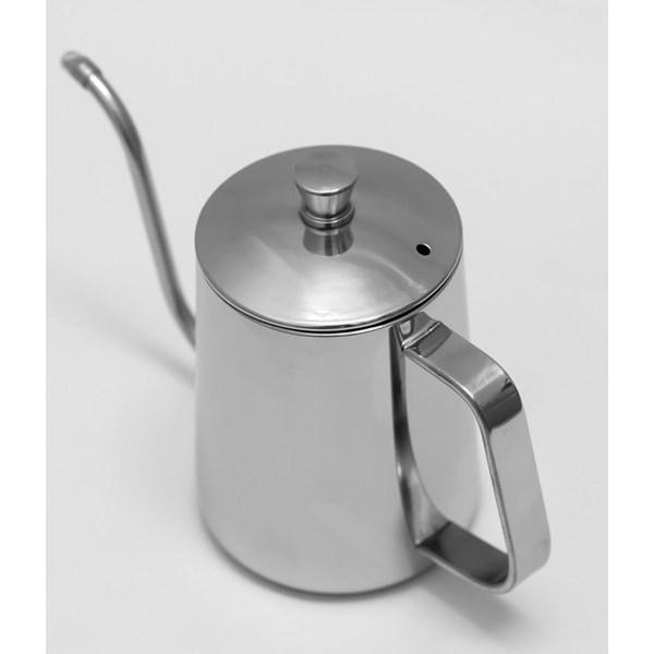 Pembuat Kopi Kettle Leher Angsa 600Ml Stainless Silver