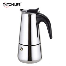 Mocha coffee maker Pot 4 Cups Full Stainless