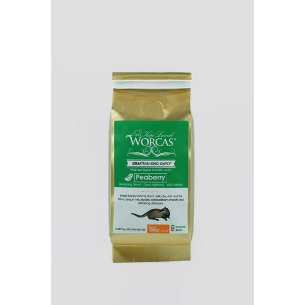 Minuman Kopi Kopi Luwak Sumatran King Gayo Peaberry 100gr Beans