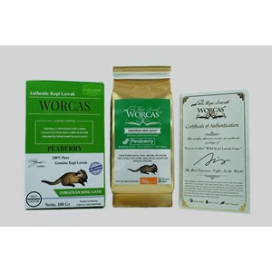 Minuman Kopi Kopi Luwak Sumatran King Gayo Peaberry 100gr Ground