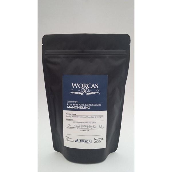 Minuman Kopi Kopi Arabica Mandheling 200 Gram (Bubuk) - Worcas Coffee