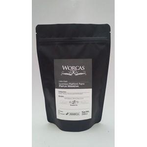 Minuman Kopi Kopi Arabica Papua Wamena 200 Gram (Bubuk) - Worcas Coffee
