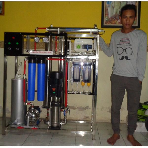 Mesin RO 4000 Gpd lengkap dengan alkalin plus bio energi plus ozone plus lampu UV dan unit pencucian membran