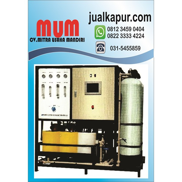 SEA WATER MAKER BECOME A 30000 LITER CAPACITY PER DAY