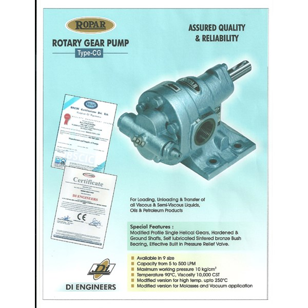 "Gear Pump Ropar CG-125 - 1.25"" x 1.25"""