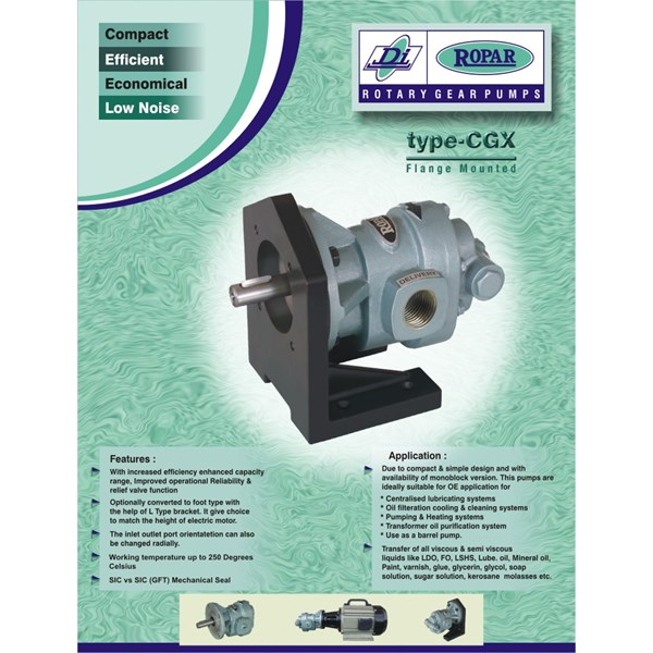 "Gear Pump Ropar CGX-075 - 3/4"" x 3/4"""