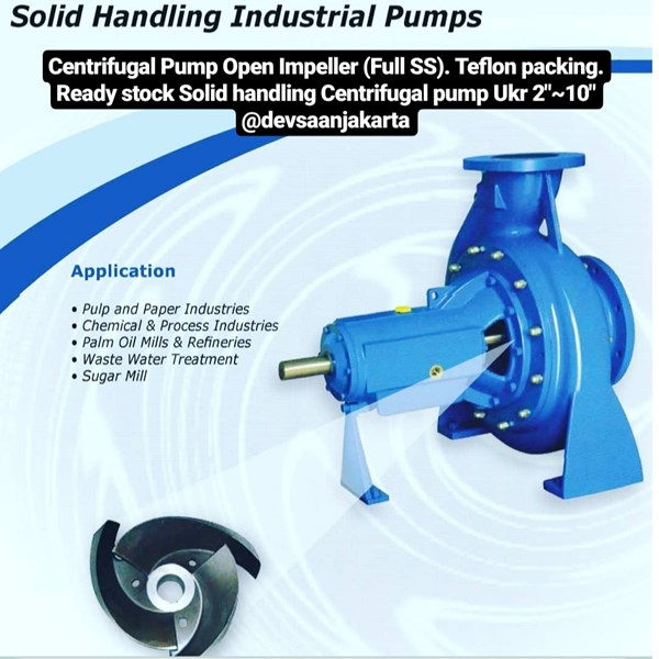 Pompa Slurry Full Open Impeller