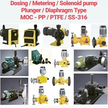 Pompa Dosing - PP/PVC/PVDF/PTFE/SS-316