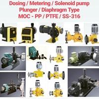 Solenoid Diaphragm Pump - PP/PVC/PVDF/PTFE/SS-316