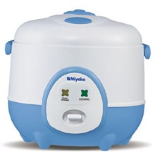 Miyako MCM-606A Magic Com 0.6 L Magic Warmer Plus - Putih-Biru
