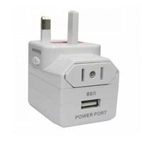 Mediatech Universal Travel Adaptor UTA-02 USB- Putih 1