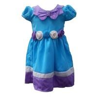 Jual Dress Salem Mawar Biru 3