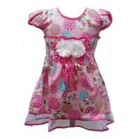 Jual Two Mix 1518 Dress Bunga Laser Pink 3