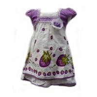 Jual Two Mix 1667 Dress Strawberry Ungu 3