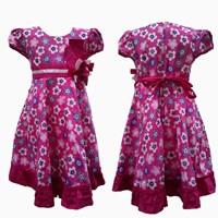 Jual Pink Dress Full Flowers 1865