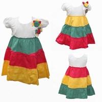 Jual Two Mix Dress Rompi BUnga Viera 1938
