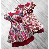 baju anak bunga kerah bulat