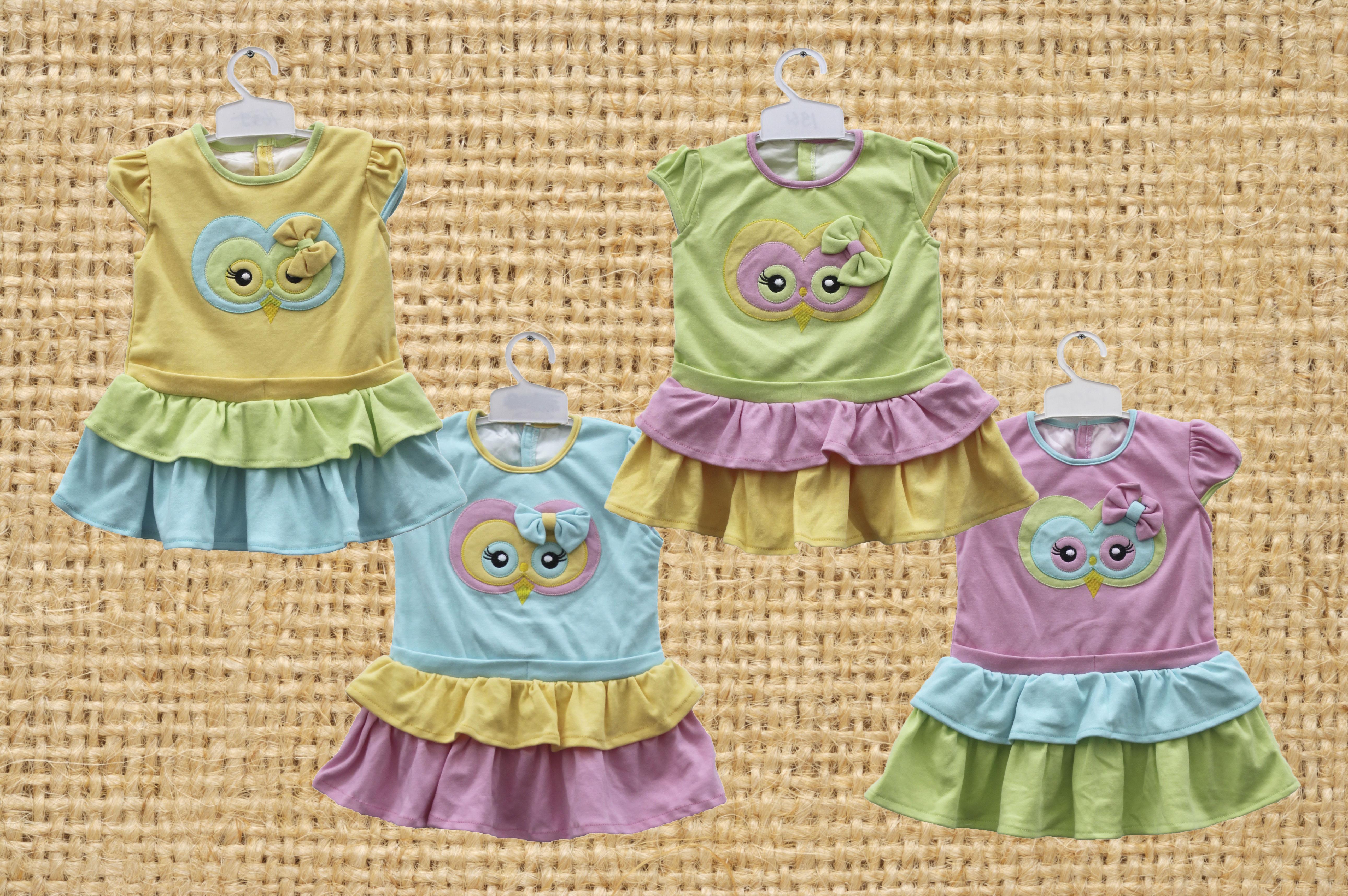 Jual Baju Bayi Owl Kombinasi 3 Warna 1932 Harga Murah