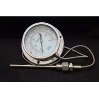 Bimetallic Thermometer Kabel Kapiler Diameter 4