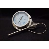 """Bimetallic Thermometer GMT Kabel Kapiler Diameter 4"""""""