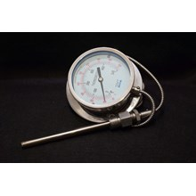 Bimetallic Thermometer GMT Kabel Kapiler Diameter 4