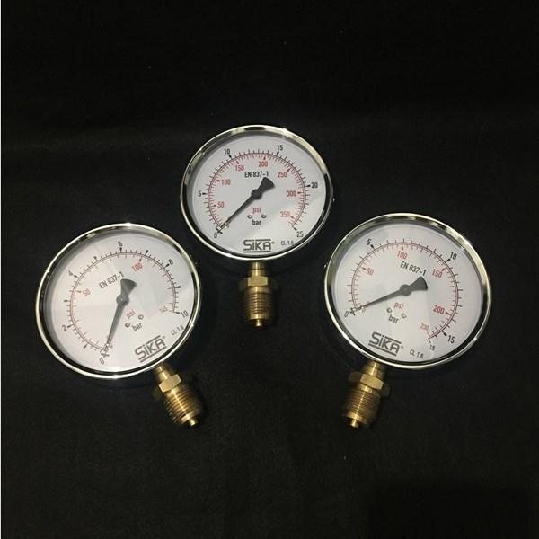 "Pressure Gauge Sika (Kaca 4"", 25 Bar)"