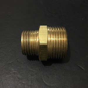 From Brass Reducing Double Nipple Connector  0