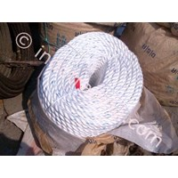 Dia. 52mm Double Braided Hawsers Polypropylene Monofilament Mooring Rope 8 Strand IMPA 210353