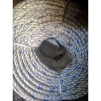 Dia. 80mm Double Braided Hawsers Polypropylene Monofilament Mooring Rope 8 Strand IMPA 210363
