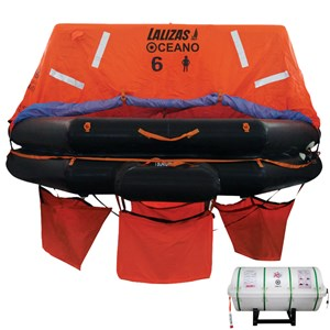 Dari LALIZAS Liferaft SOLAS OCEANO Throw Over Board 10 Person SOLAS Pack A SOLAS Approved by Germanischer Llyods 0