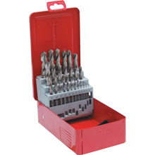 Sherwood.SET OF 25 HSS BRIGHT DRILLS 1-13.00mm x 0.5mm