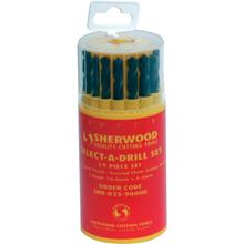 Sherwood.19-PCE SELECT-A-DRILL SET 1.0-10.0x0.5mm