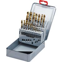 SwissTech.1-10.00mm x 0.5mm HSS-TIN DRILLS (SET-19) 1